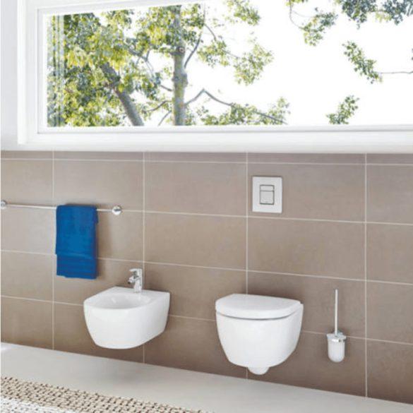 GROHE Skate Cosmopolitan WC-nyomólap, 2 vízmennyiségű, matt króm, függőleges vagy vízszintes szerelés