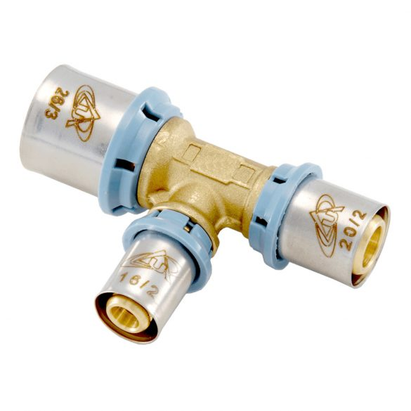 UNIDELTA 4013 press szűkített T-idom, 26x3-20x2-26x3mm