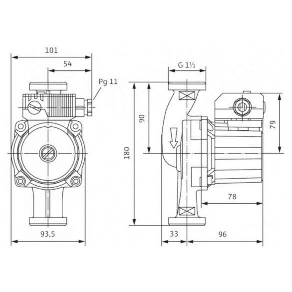 Jelleggörbe a WILO Star-Z 25/6 EM cirkulációs szivattyúhoz