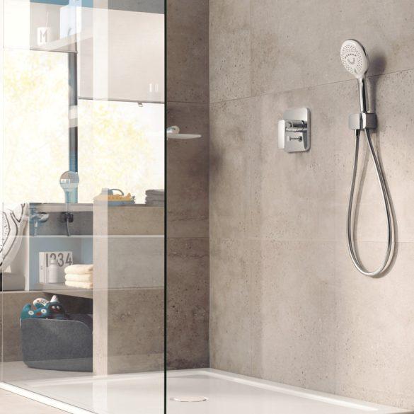 KLUDI látható rész Pure&Style falba süllyesztett zuhanycsaptelephez, egykaros, króm