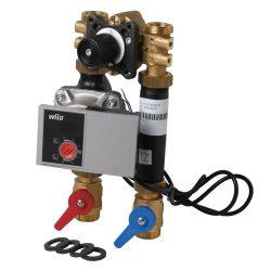 FixTrend T-Box TS motoros kevert fűtőköri egység, szigetelés nélkül, DN20 WILO YONOS PARA 15/1-6 szivattyúval