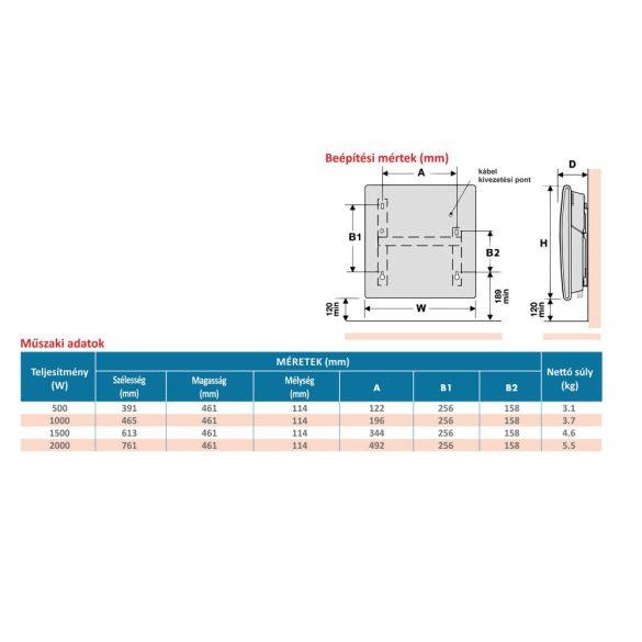 ATLANTIC F129 ERP elektromos konvektor, digitális termosztáttal, 1000W