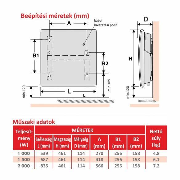ATLANTIC ALTIS ECOBOOST 2 elektromos konvektor digitális termosztáttal, 1000W