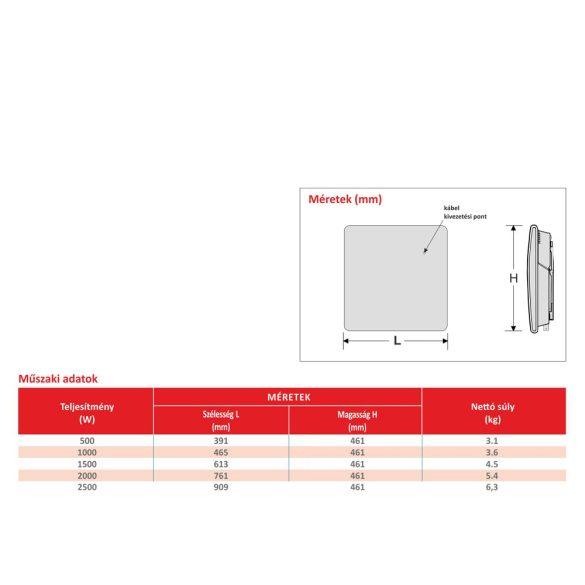 ATLANTIC F19 D ERP elektromos konvektor, mechanikus termosztáttal, lábbal, 1000W