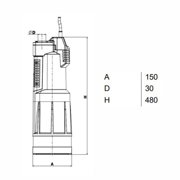 DAB Divertron 1200M ásottkút szivattyú, 750W, 230V
