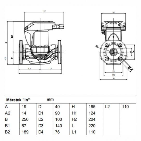 DAB Evoplus B Small 60/220.32 M keringető szivattyú, karimás