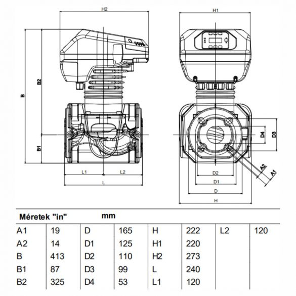 DAB Evoplus B 80/240.50 M keringető szivattyú, karimás, 240mm, DN50, 230V