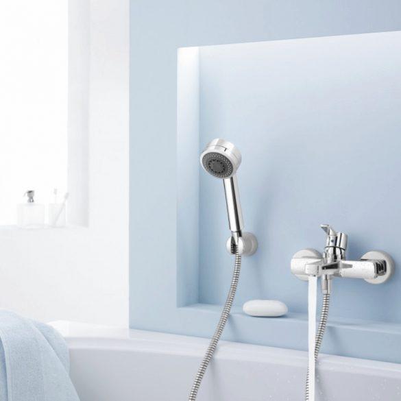 KLUDI Zenta 2S zuhanygarnitúra, 2 fokozatú, fix zuhanytartó, 125cm gégecső