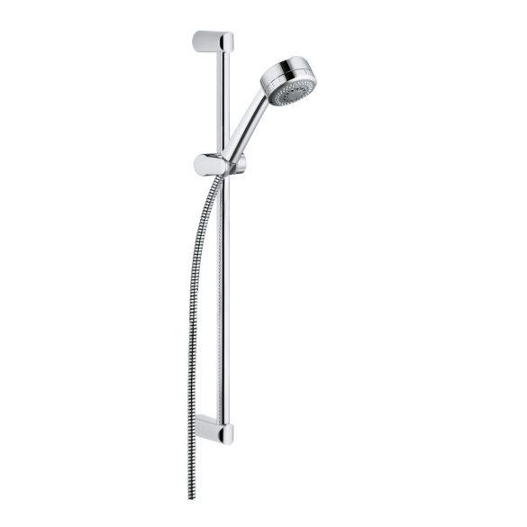 KLUDI Zenta 3S zuhanygarnitúra, 3 fokozatú, Zenta 60cm falirúd, 160cm gégecső