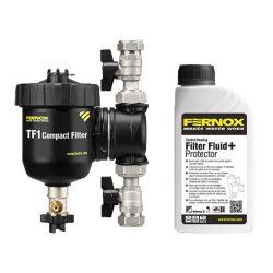 """FERNOX TF1 Compact nagy teljesítményű, átfolyó (in-line) rendszerszűrő, 3/4"""""""