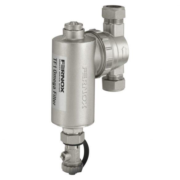 FERNOX TF1 Omega Filter kombinált mágneses/finomszűrő, iszapleválasztó, 22mm