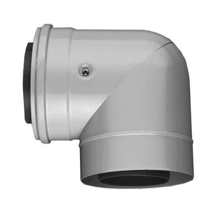 BOSCH AZB 607/1 koncentrikus könyök 90° PPS/alu 80/125mm