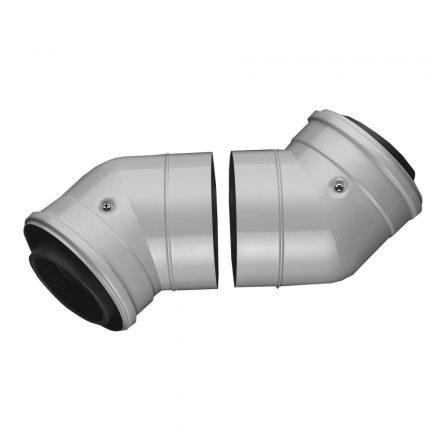 BOSCH AZB 608/1 koncentrikus könyök 45° PPs/alu 80/125mm 2db
