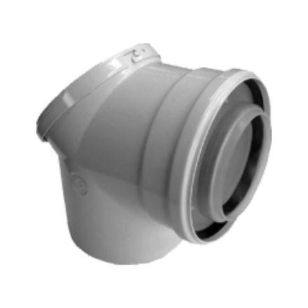 BOSCH AZB 938 koncentrikus könyök 90° tisztitónyílással PPs/alu 80/125mm