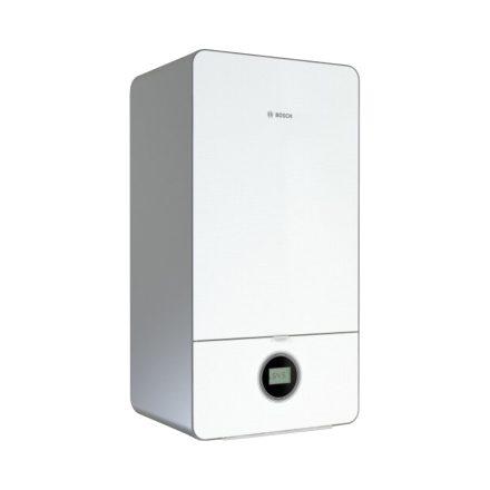 BOSCH Condens GC7000iW 24 P 23 fali kondenzációs fűtő gázkazán fehér üveg előlappal