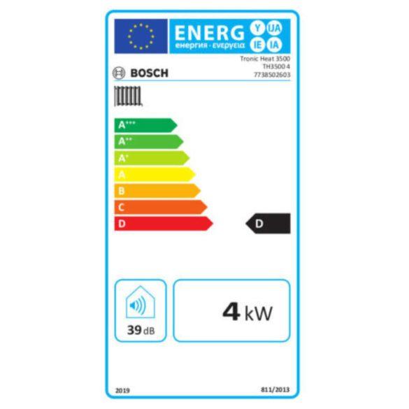 BOSCH Tronic Heat 3500 4kW-os elektromos fali fűtőkazán méretek