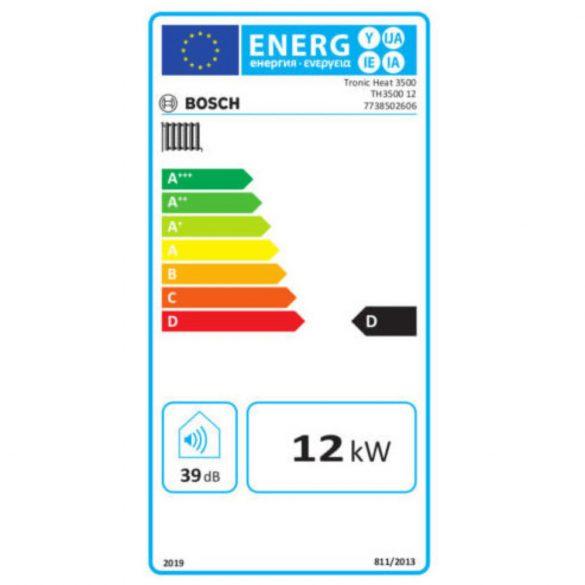 BOSCH Tronic Heat 3500 12kW-os elektromos fali fűtőkazán méretek