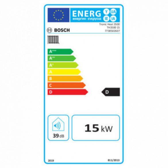 BOSCH Tronic Heat 3500 15kW-os elektromos fali fűtőkazán méretek
