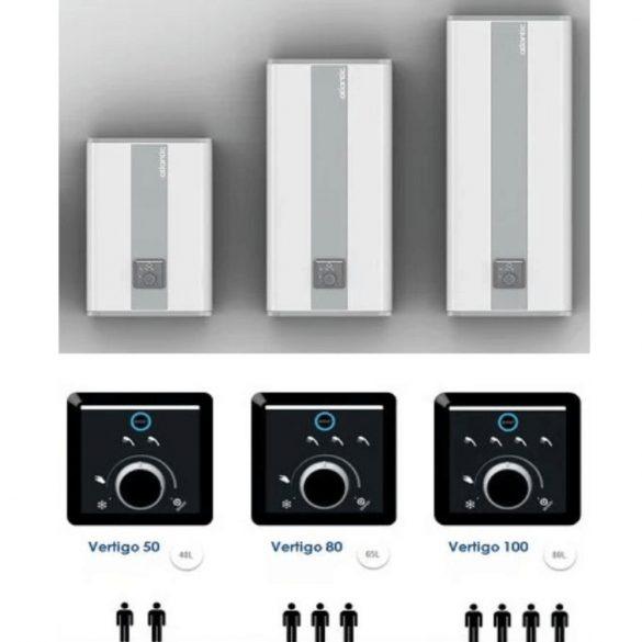 ATLANTIC Vertigo STEATITE ERP 100 literes energiatakarékos bojler, függőleges, vagy vízszintes elhelyezésű, elektromos 230V