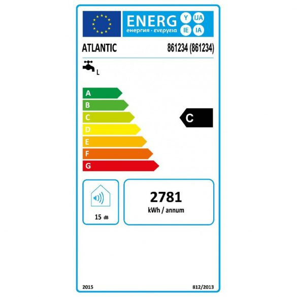 ATLANTIC Opro Plus STEATITE ERP 100 literes energiatakarékos bojler, elektromos 230V