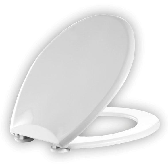 ALFÖLDI 8780/95 Saval 2.0-Bázis-Saval-Solinar WC-ülőke, fém zsanérral, fehér