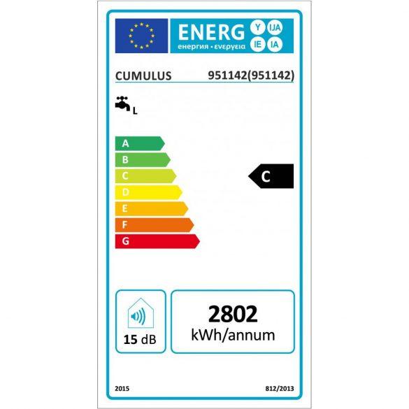 Az ATLANTIC Cumulus ERP tárolós 80 literes elektromos vízmelegítő felépítése