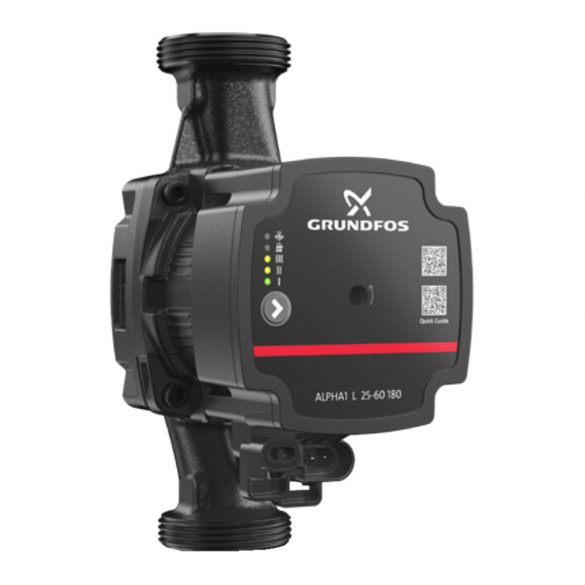 """GRUNDFOS Alpha 1 L 25-40 180 fűtési keringető szivattyú, 180 mm, 6/4"""", 230V"""