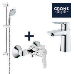 GROHE BauEdge mosdó+zuhanycsaptelep csomag, New Tempesta II állítható zuhanyszettel