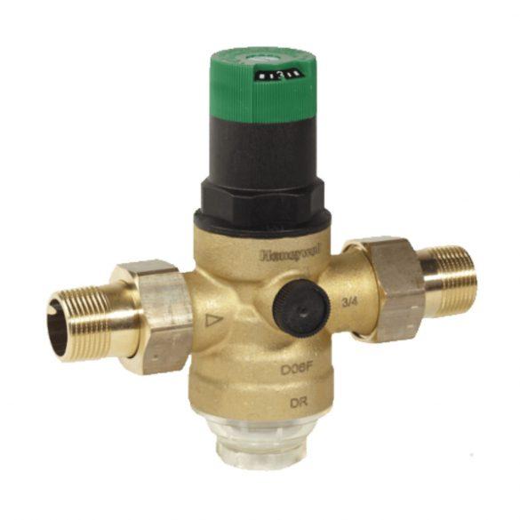 """HONEYWELL D06F víznyomáscsökkentő, hollandival, PN16, 1.5-6bar, 40°C, 3/4""""K"""