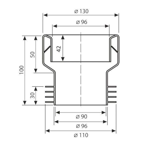 FixTrend WC-bekötő szimering