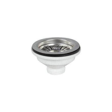 """FixTrend mosogató leeresztőszelep, fémdugóval (szűrő), 6/4""""x114mm"""