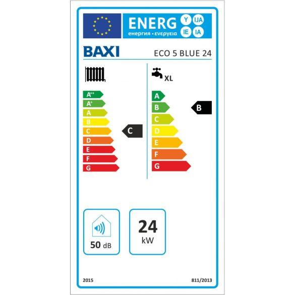 BAXI ECO5 BLUE 24 kombi kazán, kéményes, fali, 24kW BAX_ECO5BLUE24