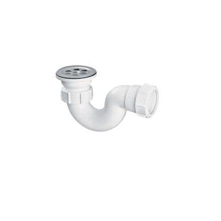 """MCALPINE HC25 zuhanytálca szifon 40mm, 6/4""""x70mm leeresztőszeleppel"""