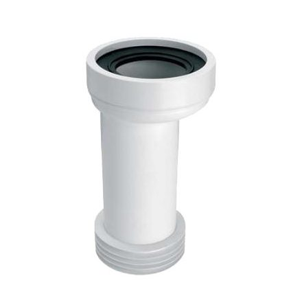 MCALPINE HC37S/WC-CON2 WC-bekötő cső, egyenes, L=260mm, DN100/110