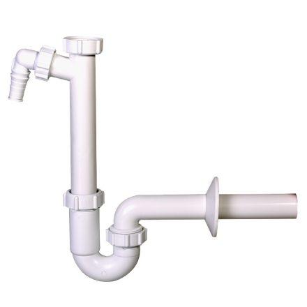 """MCALPINE HC7-40 mosogató csőszifon, mosogatógép csatlakozóval, 6/4""""x40mm"""