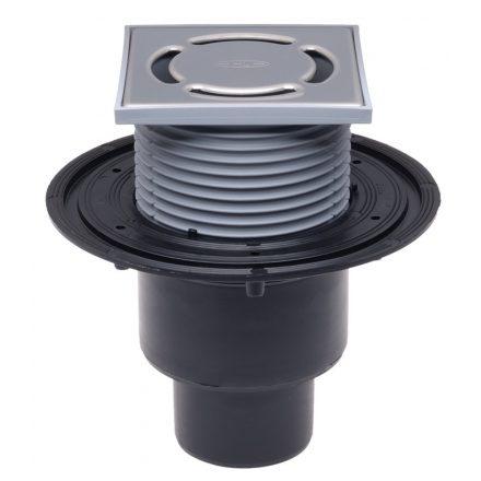 HL 310NPr padlószifon függőleges kifolyóval, száraz és vizes bűzzárral