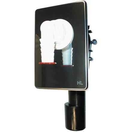 HL 400 mosógép szifon falba süllyesztve, rövidíthető beépíthető dobozzal
