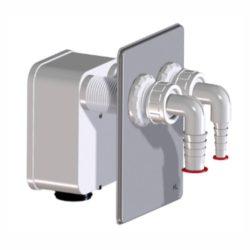 HL 4000.2 rejtett mosógépszifon, HL 4000.0-hoz, 2 mosógép csatlakoztatására