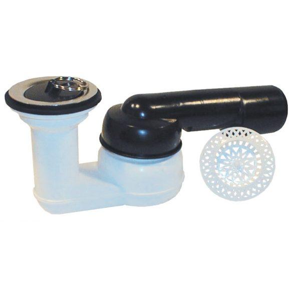 """HL 514 zuhanytálca szifon, gömbcsuklós, 280°-ban elfordítható, 6/4"""" szeleppel"""