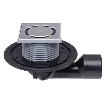 HL 80.1 padlóösszefolyó,vízszintestől függőlegesig állítható kifolyócsonk,bűzzár