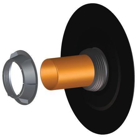 HL 800/125 faláttörés szigetelő, ajakos tömítéssel, bitumengallérral, 125mm