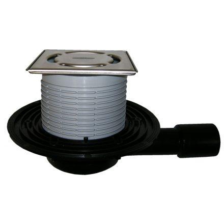 HL 90Pr-3000 padlóösszefolyó, DN40/50, 115x115mm ráccsal