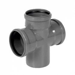 PIPELIFE KAEA PVC 3 ágú lefolyó keresztidom 90°, gumigyűrűs, 110/110/110mm