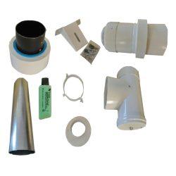 TRICOX KULCS50 koncentrikus külső fali szerelő csomag PPs/alu 60/100mm