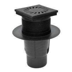 FixTrend kültéri összefolyó, lombfogóval, alsó kifolyású, öntöttvas fedlap,DN110