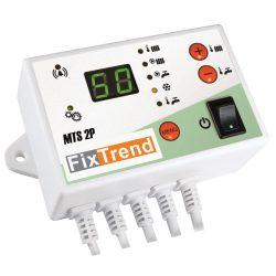 FixTrend MTS2P vezérlő termosztát, szivattyú védelemmel, HMV előnykapcsolással, 2 szivattyú vezérlés