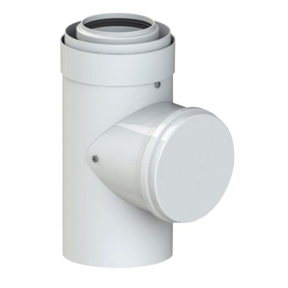 TRICOX PAEE60C Koncentrikus PPs/alu ellenőrző egyenes idom 80/125mm