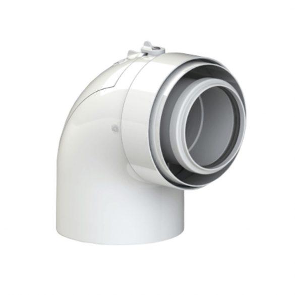 TRICOX PAEKÖ50C koncentrikus ellenőrző könyök 87° PPs/alu 60/100mm