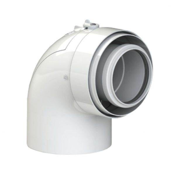 TRICOX PAEKÖ60C koncentrikus ellenőrző könyök 87° PPs/alu 80/125mm