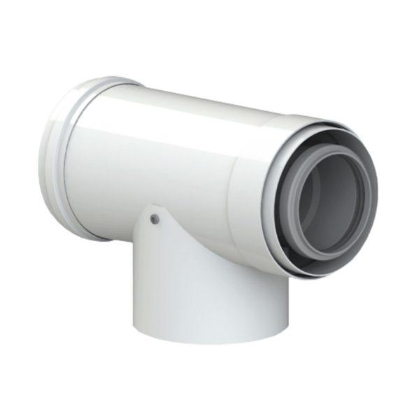 TRICOX PAET50C koncentrikus ellenőrző T idom PPs/alu 60/100mm